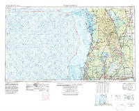 Tarpon Springs Florida Historical topographic map, 1:250000 scale, 1 X 2 Degree, Year 1955