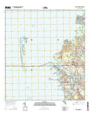 Tarpon Springs Florida Current topographic map, 1:24000 scale, 7.5 X 7.5 Minute, Year 2015 from Florida Maps Store