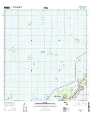 Tavernier Florida Current topographic map, 1:24000 scale, 7.5 X 7.5 Minute, Year 2015 from Florida Maps Store