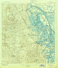 Tsala Apopka Florida Historical topographic map, 1:62500 scale, 15 X 15 Minute, Year 1895