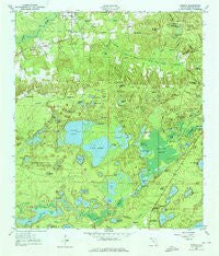 Vernon Florida Historical topographic map, 1:24000 scale, 7.5 X 7.5 Minute, Year 1950
