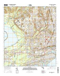 West Pensacola Florida Current topographic map, 1:24000 scale, 7.5 X 7.5 Minute, Year 2015