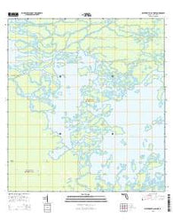 Whitewater Bay West Florida Current topographic map, 1:24000 scale, 7.5 X 7.5 Minute, Year 2015