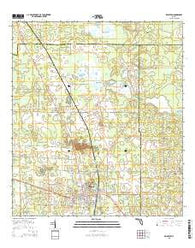 Williston Florida Current topographic map, 1:24000 scale, 7.5 X 7.5 Minute, Year 2015