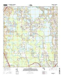 Windermere Florida Current topographic map, 1:24000 scale, 7.5 X 7.5 Minute, Year 2015