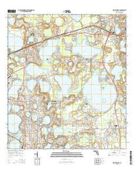 Winter Haven Florida Current topographic map, 1:24000 scale, 7.5 X 7.5 Minute, Year 2015