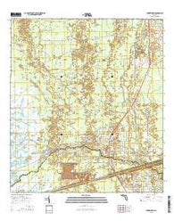 Yankeetown Florida Current topographic map, 1:24000 scale, 7.5 X 7.5 Minute, Year 2015