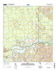 Yankeetown SE Florida Current topographic map, 1:24000 scale, 7.5 X 7.5 Minute, Year 2015