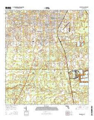Zephyrhills Florida Current topographic map, 1:24000 scale, 7.5 X 7.5 Minute, Year 2015
