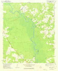 Abbeville North Georgia Historical topographic map, 1:24000 scale, 7.5 X 7.5 Minute, Year 1972