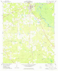 Abbeville South Georgia Historical topographic map, 1:24000 scale, 7.5 X 7.5 Minute, Year 1974