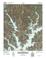 Abbottsford Georgia Historical topographic map, 1:24000 scale, 7.5 X 7.5 Minute, Year 2011