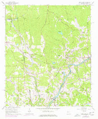 Abbottsford Georgia Historical topographic map, 1:24000 scale, 7.5 X 7.5 Minute, Year 1964