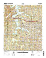 Acworth Georgia Current topographic map, 1:24000 scale, 7.5 X 7.5 Minute, Year 2014