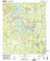 Acworth Georgia Historical topographic map, 1:24000 scale, 7.5 X 7.5 Minute, Year 1992