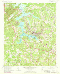 Acworth Georgia Historical topographic map, 1:24000 scale, 7.5 X 7.5 Minute, Year 1956