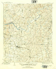 Acworth Georgia Historical topographic map, 1:62500 scale, 15 X 15 Minute, Year 1907