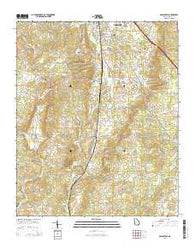 Adairsville Georgia Current topographic map, 1:24000 scale, 7.5 X 7.5 Minute, Year 2014
