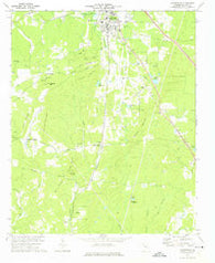 Adairsville Georgia Historical topographic map, 1:24000 scale, 7.5 X 7.5 Minute, Year 1972