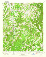 Adairsville Georgia Historical topographic map, 1:62500 scale, 15 X 15 Minute, Year 1941