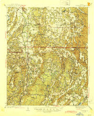 Adairsville Georgia Historical topographic map, 1:62500 scale, 15 X 15 Minute, Year 1944