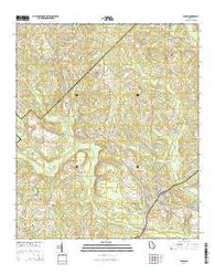 Alamo Georgia Current topographic map, 1:24000 scale, 7.5 X 7.5 Minute, Year 2014