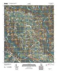Alapaha Georgia Historical topographic map, 1:24000 scale, 7.5 X 7.5 Minute, Year 2011