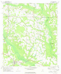 Alapaha Georgia Historical topographic map, 1:24000 scale, 7.5 X 7.5 Minute, Year 1977