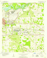 Albany East Georgia Historical topographic map, 1:24000 scale, 7.5 X 7.5 Minute, Year 1956