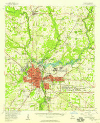 Albany Georgia Historical topographic map, 1:62500 scale, 15 X 15 Minute, Year 1956