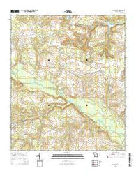 Alexander Georgia Current topographic map, 1:24000 scale, 7.5 X 7.5 Minute, Year 2014