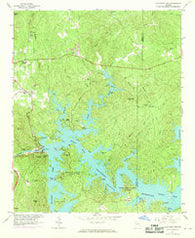 Allatoona Dam Georgia Historical topographic map, 1:24000 scale, 7.5 X 7.5 Minute, Year 1968