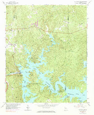 Allatoona Dam Georgia Historical topographic map, 1:24000 scale, 7.5 X 7.5 Minute, Year 1961