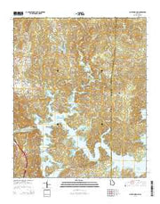Allatoona Dam Georgia Current topographic map, 1:24000 scale, 7.5 X 7.5 Minute, Year 2014 from Georgia Maps Store