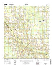 Alma NW Georgia Current topographic map, 1:24000 scale, 7.5 X 7.5 Minute, Year 2014 from Georgia Maps Store