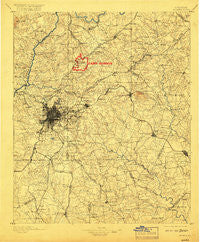 Atlanta Georgia Historical topographic map, 1:125000 scale, 30 X 30 Minute, Year 1895
