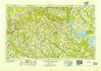 Augusta Georgia Historical topographic map, 1:250000 scale, 1 X 2 Degree, Year 1954