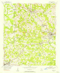 Austell Georgia Historical topographic map, 1:24000 scale, 7.5 X 7.5 Minute, Year 1954