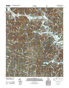 Avalon Georgia Historical topographic map, 1:24000 scale, 7.5 X 7.5 Minute, Year 2011