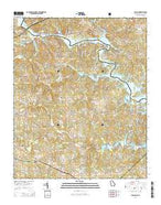 Avalon Georgia Current topographic map, 1:24000 scale, 7.5 X 7.5 Minute, Year 2014 from Georgia Map Store