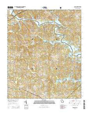 Avalon Georgia Current topographic map, 1:24000 scale, 7.5 X 7.5 Minute, Year 2014 from Georgia Maps Store