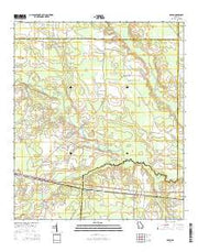 Axson Georgia Current topographic map, 1:24000 scale, 7.5 X 7.5 Minute, Year 2014 from Georgia Maps Store