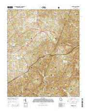 Ayersville Georgia Current topographic map, 1:24000 scale, 7.5 X 7.5 Minute, Year 2014 from Georgia Maps Store