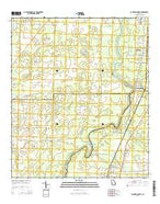 Baconton North Georgia Current topographic map, 1:24000 scale, 7.5 X 7.5 Minute, Year 2014 from Georgia Map Store