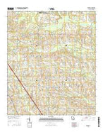 Bethel Georgia Current topographic map, 1:24000 scale, 7.5 X 7.5 Minute, Year 2014 from Georgia Map Store