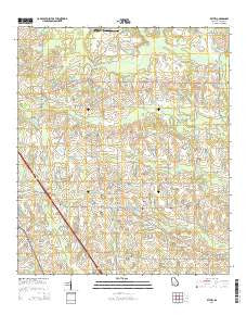 Bethel Georgia Current topographic map, 1:24000 scale, 7.5 X 7.5 Minute, Year 2014