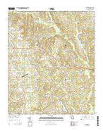 Between Georgia Current topographic map, 1:24000 scale, 7.5 X 7.5 Minute, Year 2014 from Georgia Map Store