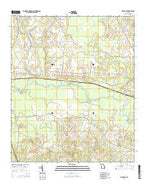 Birdsville Georgia Current topographic map, 1:24000 scale, 7.5 X 7.5 Minute, Year 2014 from Georgia Map Store