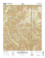 Buena Vista NW Georgia Current topographic map, 1:24000 scale, 7.5 X 7.5 Minute, Year 2014 from Georgia Map Store