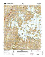 Buford Dam Georgia Current topographic map, 1:24000 scale, 7.5 X 7.5 Minute, Year 2014 from Georgia Map Store